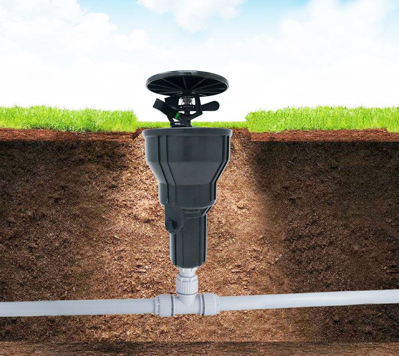 siroflex irrigatore interrato aperto chiaro